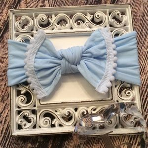 Other - Baby Girls Light Blue Knot Bow Headband
